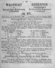 Amtsblatt der Königlichen Preussischen Regierung zu Bromberg. 1860.09.14 No.37