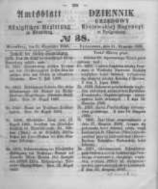 Amtsblatt der Königlichen Preussischen Regierung zu Bromberg. 1860.09.21 No.38
