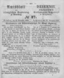Amtsblatt der Königlichen Preussischen Regierung zu Bromberg. 1860.11.23 No.47