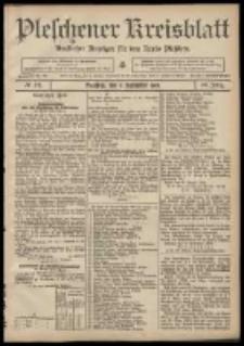 Pleschener Kreisblatt: Amtlicher Anzeiger für den Kreis Pleschen 1908.09.09 Jg.56 Nr73