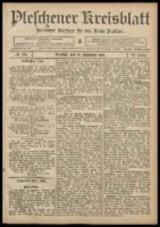 Pleschener Kreisblatt: Amtlicher Anzeiger für den Kreis Pleschen 1908.09.30 Jg.56 Nr79