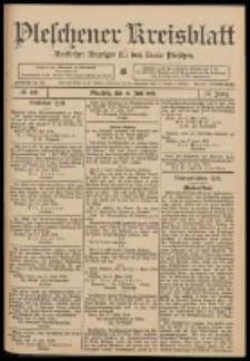 Pleschener Kreisblatt: Amtlicher Anzeiger für den Kreis Pleschen 1909.06.19 Jg.57 Nr49