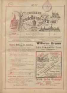 Posener Ausstellungs-Zeitung: Offizielles Organ der Provinzial-Gewerbe-Ausstellung 1895.05.19 Nr1