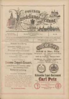 Posener Ausstellungs-Zeitung: Offizielles Organ der Provinzial-Gewerbe-Ausstellung 1895.06.15 Nr21