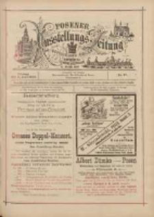 Posener Ausstellungs-Zeitung: Offizielles Organ der Provinzial-Gewerbe-Ausstellung 1895.06.21 Nr27