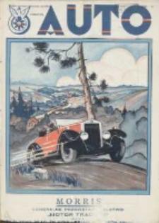 Auto: ilustrowane czasopismo sportowo-techniczne: organ Automobilklubu Polski oraz Klubów Afiliowanch: revue sportive et technique de l' automobile: organe officiel de l'Automobile-Club de Pologne et des clubs afiliés 1928 sierpień R.7 Nr8