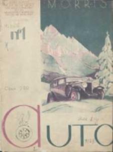 Auto: ilustrowane czasopismo sportowo-techniczne: organ Automobilklubu Polski oraz Klubów Afiliowanch: revue sportive et technique de l' automobile: organe officiel de l'Automobile-Club de Pologne et des clubs afiliés 1929 styczeń R.8 Nr1