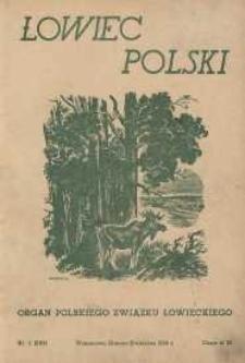 Łowiec Polski 1946 Nr1