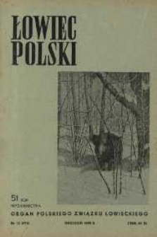 Łowiec Polski 1949 Nr12