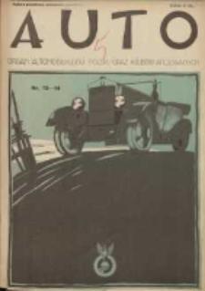 Auto: ilustrowane czasopismo sportowo-techniczne: organ Automobilklubu Polski oraz Klubów Afiliowanych: revue sportive et technique de l' automobile: organe officiel de l'Automobile-Club de Pologne et des clubs afiliés 1925.07.20 R.4 Nr13/14