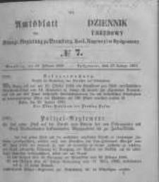 Amtsblatt der Königlichen Preussischen Regierung zu Bromberg. 1857.02.13 No.7