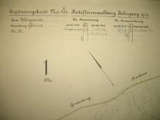 Placówka wychowawcza w Antoniewie. Mapa części majątku Glinno