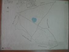Placówka wychowawcza w Antoniewie. Mapa części majątku Glinna oznaczona nr 1