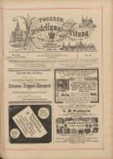 Posener Ausstellungs-Zeitung: Offizielles Organ der Provinzial-Gewerbe-Ausstellung 1895.07.01 Nr37