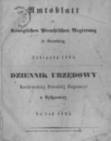 Amtsblatt der Königlichen Preussischen Regierung zu Bromberg. 1865.01.06 No.1