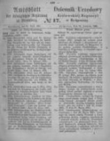 Amtsblatt der Königlichen Preussischen Regierung zu Bromberg. 1865.04.28 No.17
