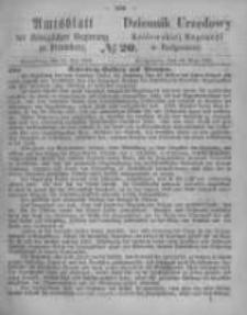 Amtsblatt der Königlichen Preussischen Regierung zu Bromberg. 1865.05.19 No.20