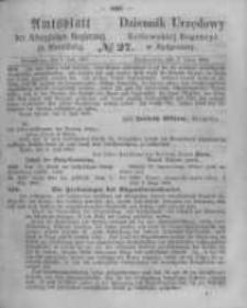 Amtsblatt der Königlichen Preussischen Regierung zu Bromberg. 1865.07.07 No.27