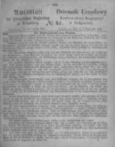 Amtsblatt der Königlichen Preussischen Regierung zu Bromberg. 1865.10.13 No.41