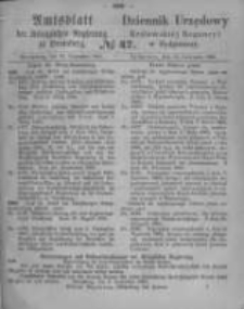 Amtsblatt der Königlichen Preussischen Regierung zu Bromberg. 1865.11.24 No.47