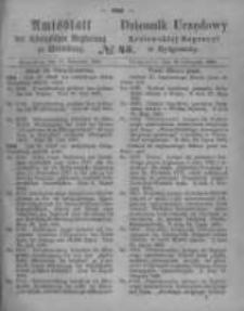 Amtsblatt der Königlichen Preussischen Regierung zu Bromberg. 1865.11.10 No.45