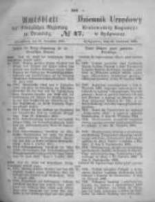 Amtsblatt der Königlichen Preussischen Regierung zu Bromberg. 1868.11.20 No.47
