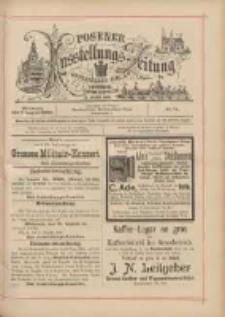 Posener Ausstellungs-Zeitung: Offizielles Organ der Provinzial-Gewerbe-Ausstellung 1895.08.07 Nr74