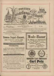 Posener Ausstellungs-Zeitung: Offizielles Organ der Provinzial-Gewerbe-Ausstellung 1895.08.21 Nr88
