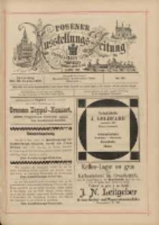 Posener Ausstellungs-Zeitung: Offizielles Organ der Provinzial-Gewerbe-Ausstellung 1895.08.22 Nr89