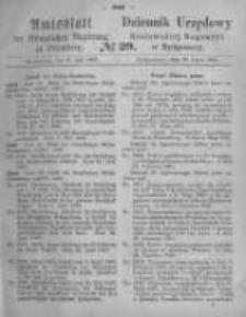 Amtsblatt der Königlichen Preussischen Regierung zu Bromberg. 1867.07.19 No.29