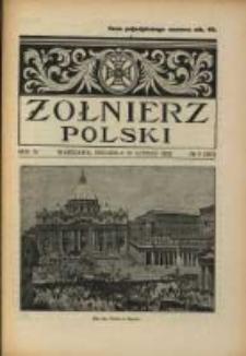 Żołnierz Polski : pismo poświęcone czynowi i doli żołnierza polskiego. R.4 1922 nr8