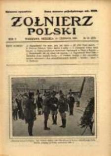 Żołnierz Polski : pismo poświęcone czynowi i doli żołnierza polskiego. R.5 1923 nr23