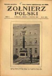 Żołnierz Polski : pismo poświęcone czynowi i doli żołnierza polskiego. R.5 1923 nr31