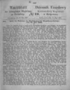 Amtsblatt der Königlichen Preussischen Regierung zu Bromberg. 1867.05.10 No.19