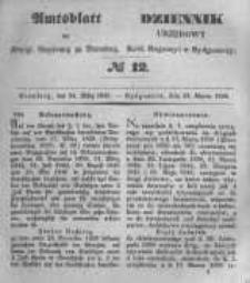 Amtsblatt der Königlichen Preussischen Regierung zu Bromberg. 1848.03.24 No.12