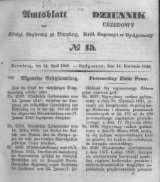 Amtsblatt der Königlichen Preussischen Regierung zu Bromberg. 1848.04.14 No.15