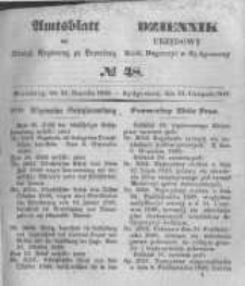 Amtsblatt der Königlichen Preussischen Regierung zu Bromberg. 1848.11.24 No.48