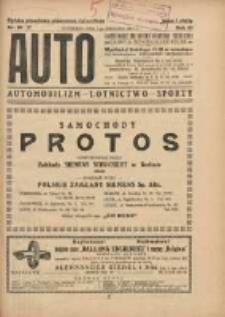 Auto: ilustrowane czasopismo sportowo-techniczne: organ Automobilklubu Polski: automobilizm, lotnictwo, sporty 1924.09.01 R.3 Nr16/17