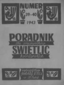 Poradnik dla Pracowników Świetlic Żołnierskich. 1943 R.3 nr39-40