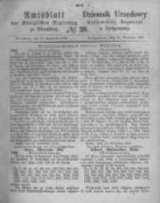 Amtsblatt der Königlichen Preussischen Regierung zu Bromberg. 1870.10.07 No.40