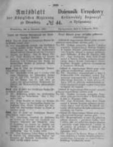 Amtsblatt der Königlichen Preussischen Regierung zu Bromberg. 1870.11.04 No.44