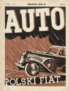 Auto: miesięcznik: organ Automobilklubu Polski oraz Klubów Afiljowanych: organe officiel de l'AutomobilKlub Polska et des clubs affiliés 1934 marzec Nr3