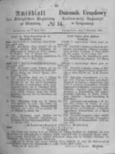 Amtsblatt der Königlichen Preussischen Regierung zu Bromberg. 1871.04.07 No.14