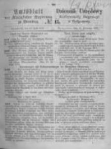 Amtsblatt der Königlichen Preussischen Regierung zu Bromberg. 1871.04.14 No.15