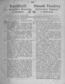 Amtsblatt der Königlichen Preussischen Regierung zu Bromberg. 1871.09.29 No.39