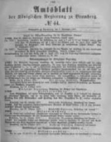 Amtsblatt der Königlichen Preussischen Regierung zu Bromberg. 1877.11.02 No.44