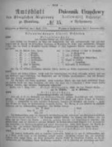 Amtsblatt der Königlichen Preussischen Regierung zu Bromberg. 1875.04.09 No.15