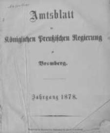 Amtsblatt der Königlichen Preussischen Regierung zu Bromberg. 1878.01.04 No.1