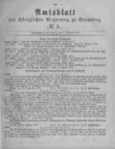Amtsblatt der Königlichen Preussischen Regierung zu Bromberg. 1878.02.01 No.5