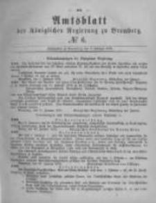 Amtsblatt der Königlichen Preussischen Regierung zu Bromberg. 1878.02.08 No.6